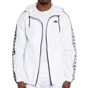 NWT DMG KAPPA white rain coat jacket windbreaker